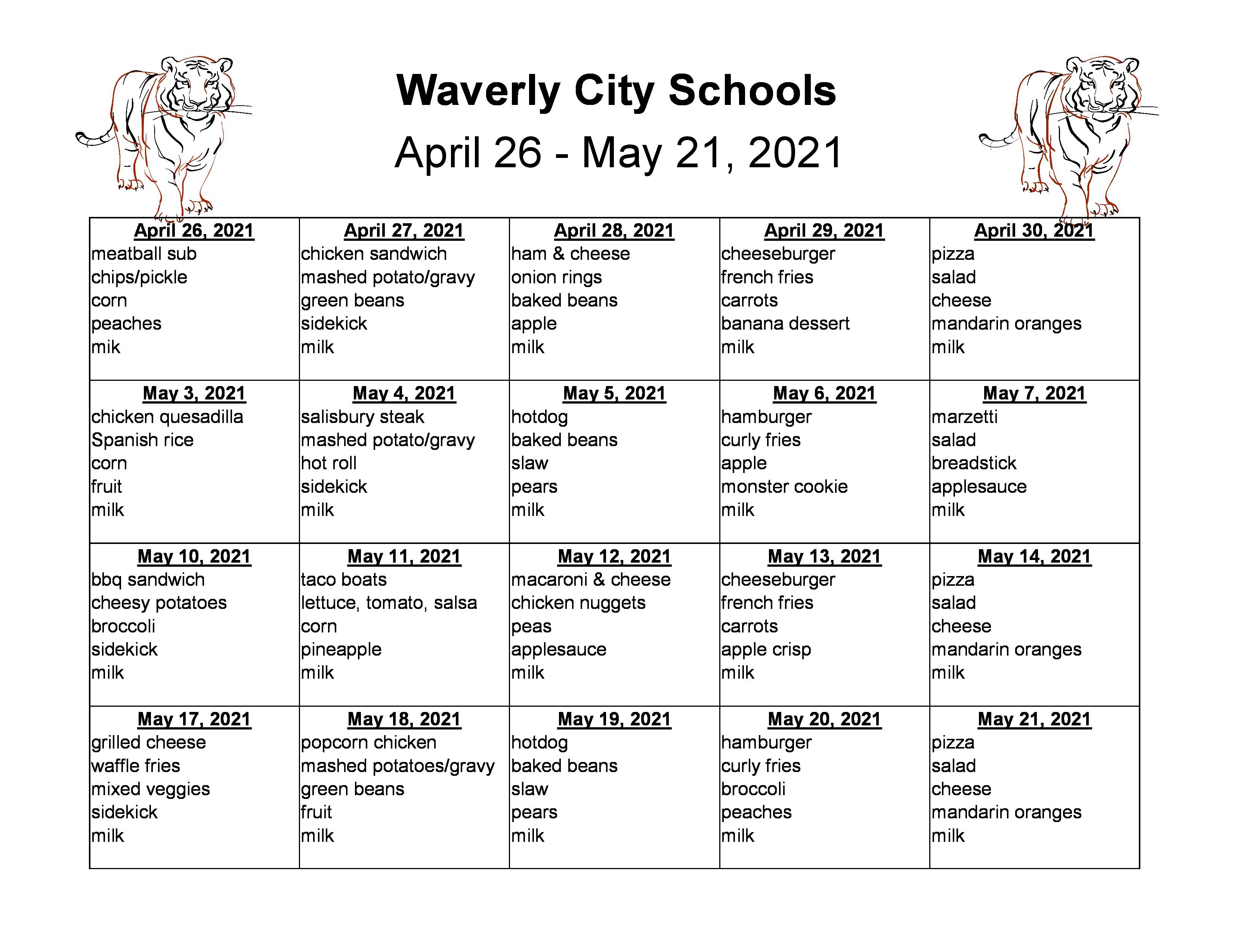 April 26-May21, 2021