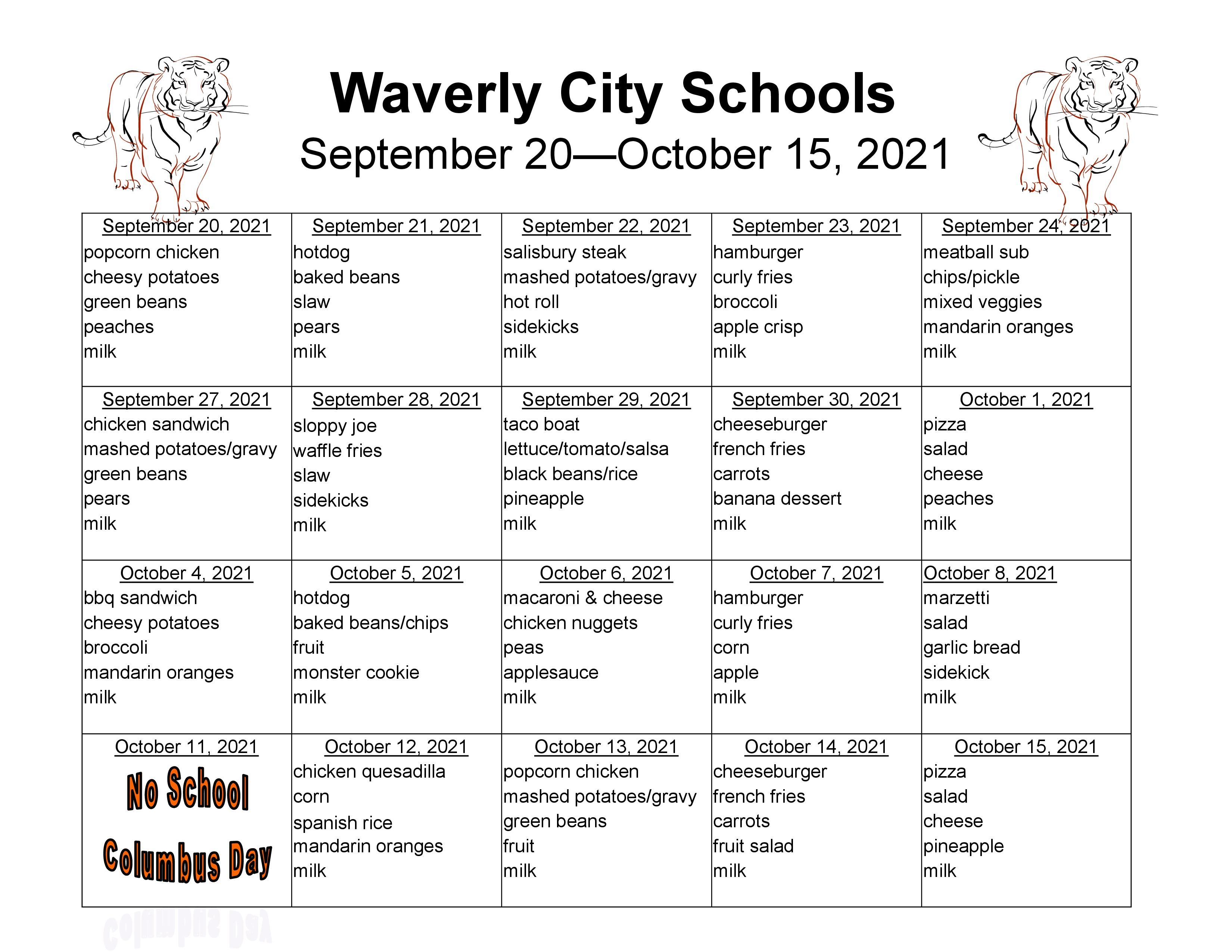 September 20-October 15th