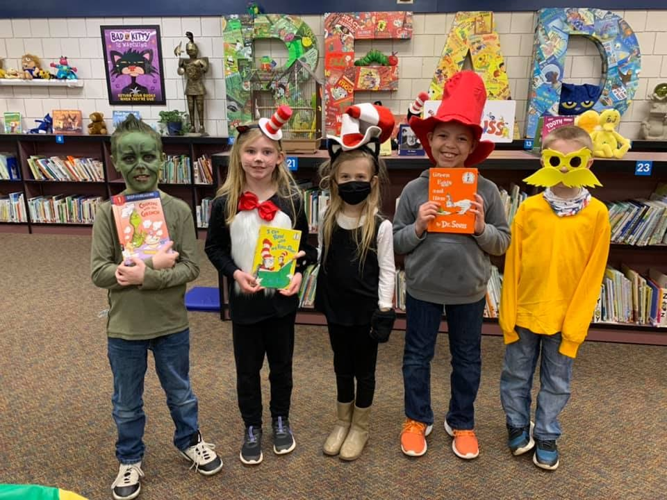 second graders on seuss day