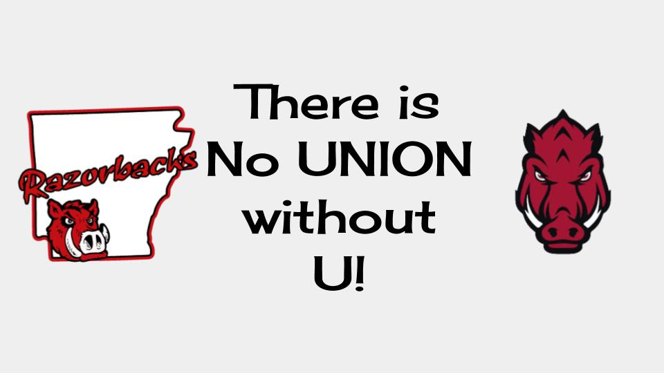there is no union without u