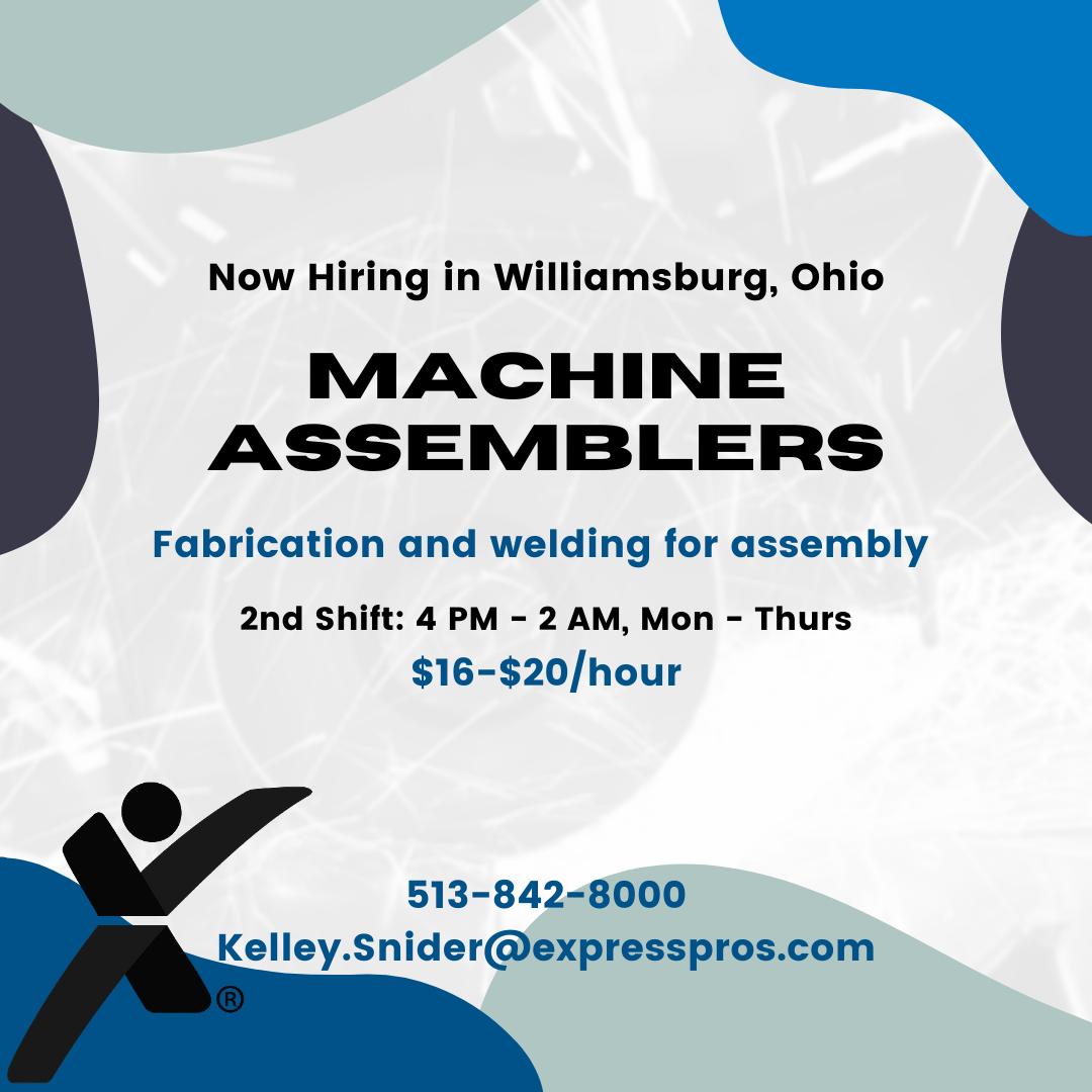Sheet Describing Welding Openings through Express Personnel