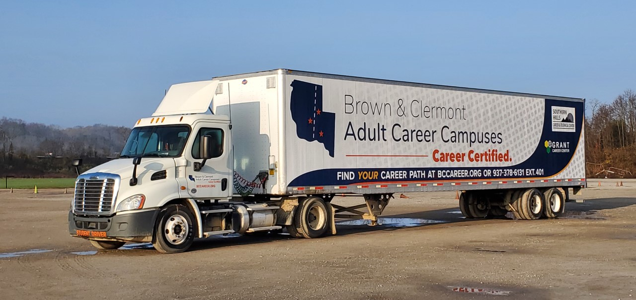 Semi Truck with BCACC name and logo