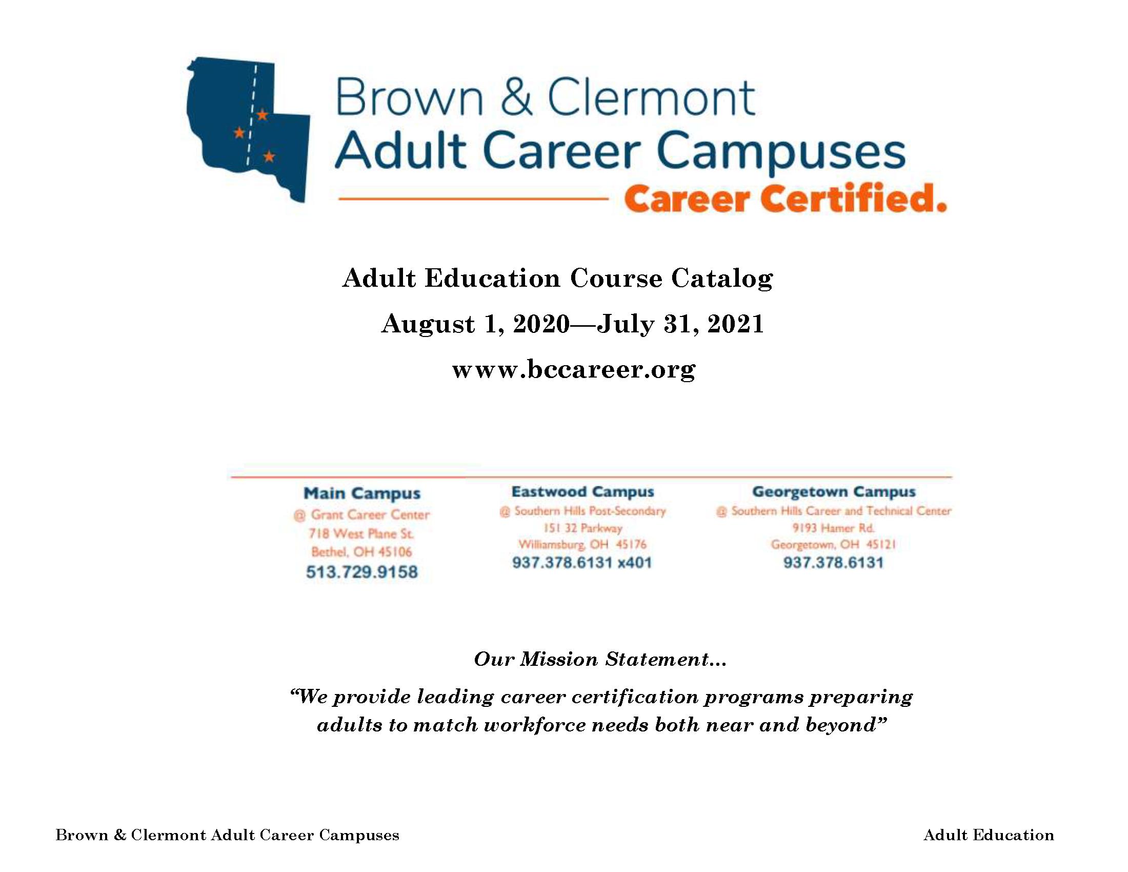 Course Catalog 2020 - 2021