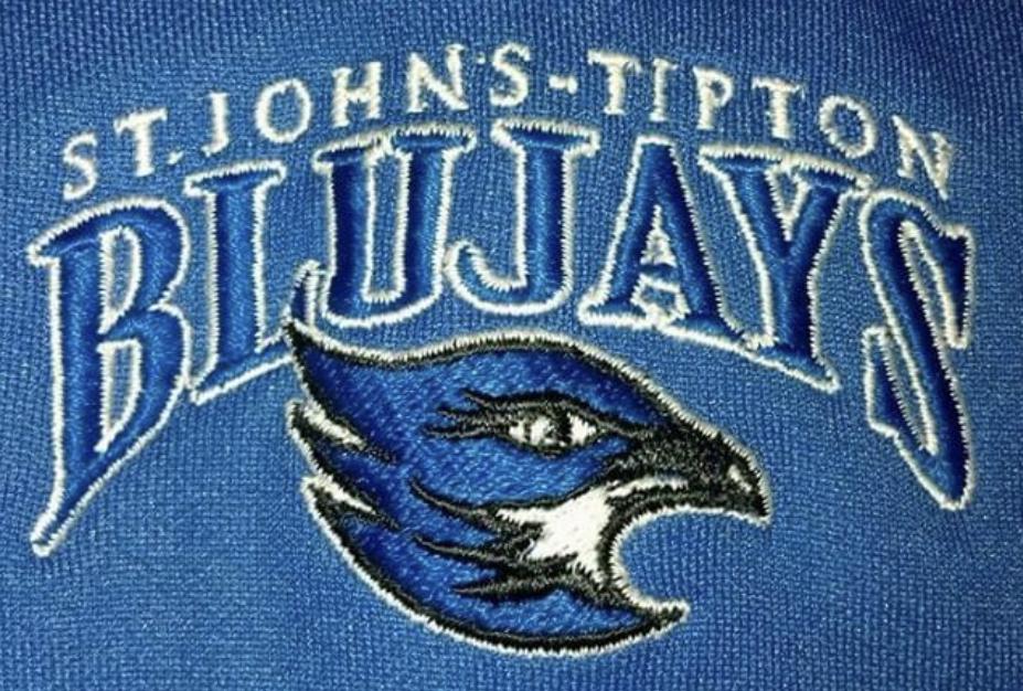 St. John's-Tipton Bluejays logo