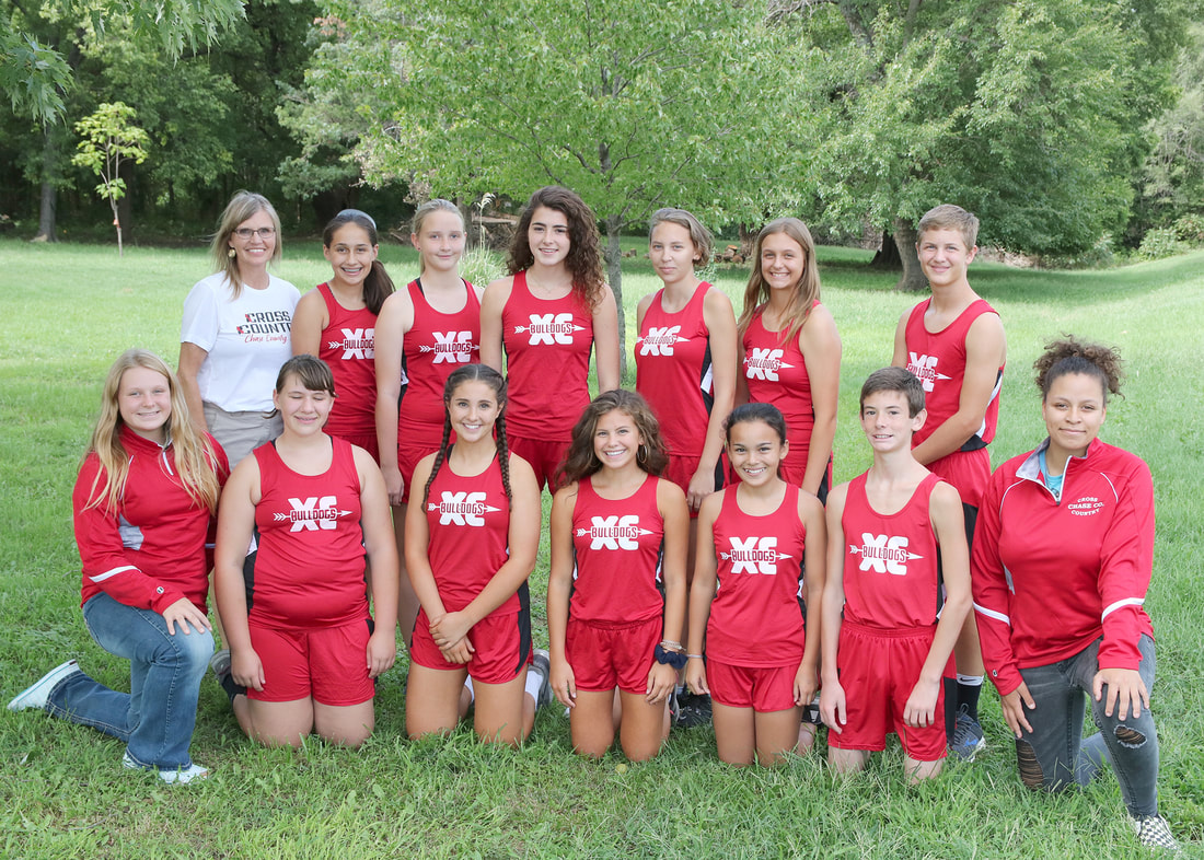 Photo of the JUNIOR HIGH/HIGH SCHOOL CROSS COUNTRY team.