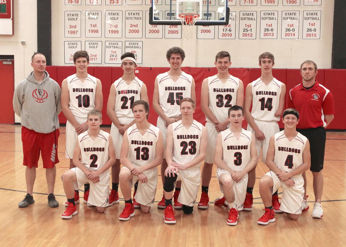 Photo of the HIGH SCHOOL BOYS BASKETBALL team.