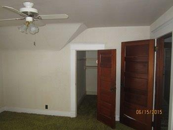 Interior room with ceiling fan