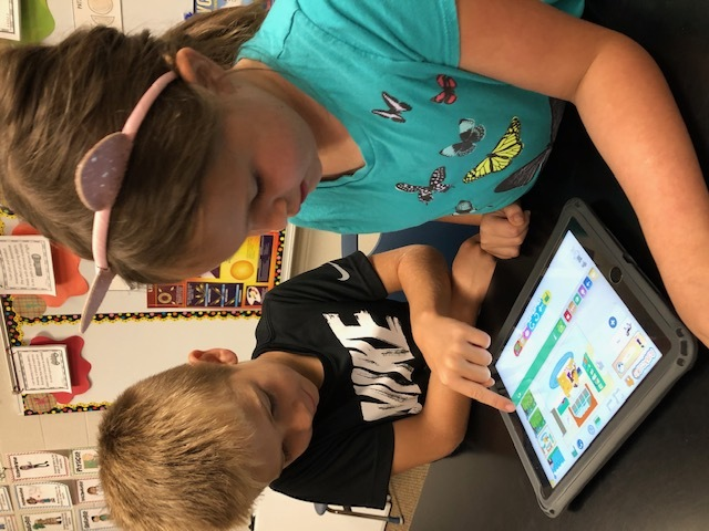 Students love using technology to help create projects!