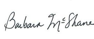 Barbara McShane Signature