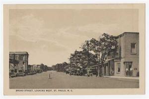 Photo of the Broad Street, St. Pauls NC.