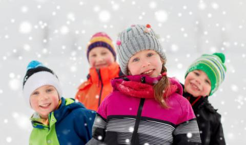 A photo of some kids in the snow.
