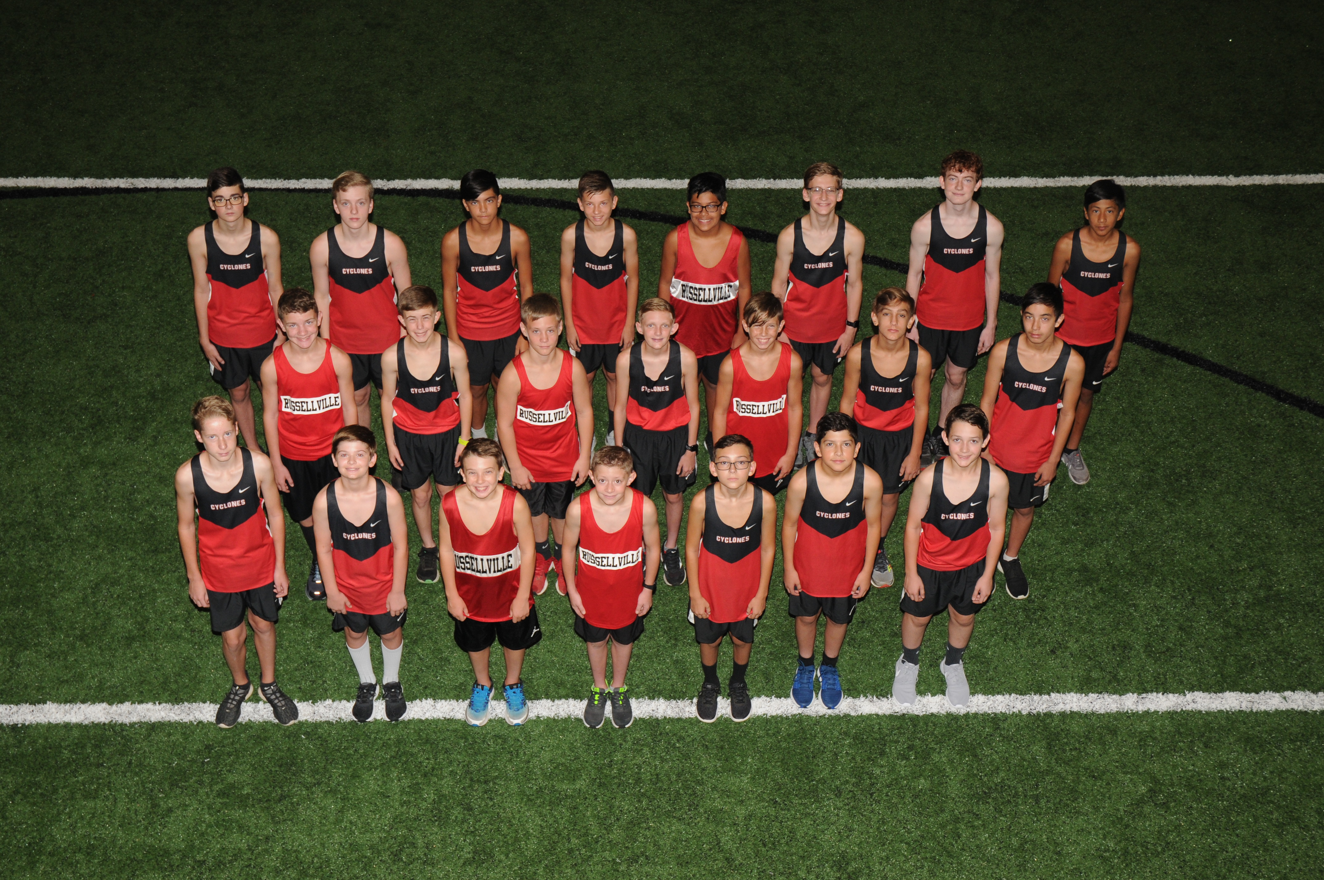 Photo of the Gales Cross Country members