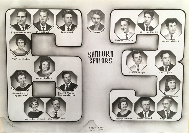 a photo of the seniors from the class of 1963