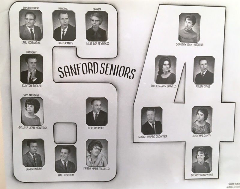 a photo of the seniors from the class of 1964