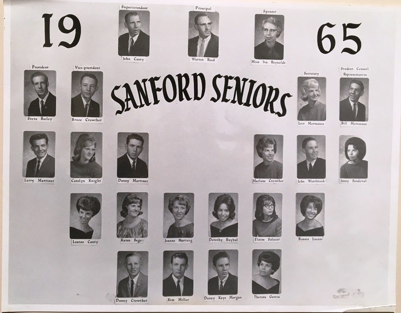 a photo of the seniors from the class of 1965