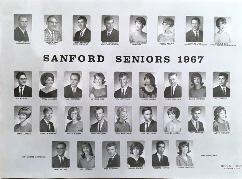 a photo of the seniors from the class of 1967