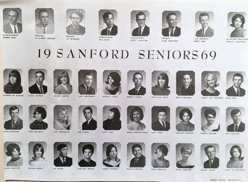 a photo of the seniors from the class of 1969