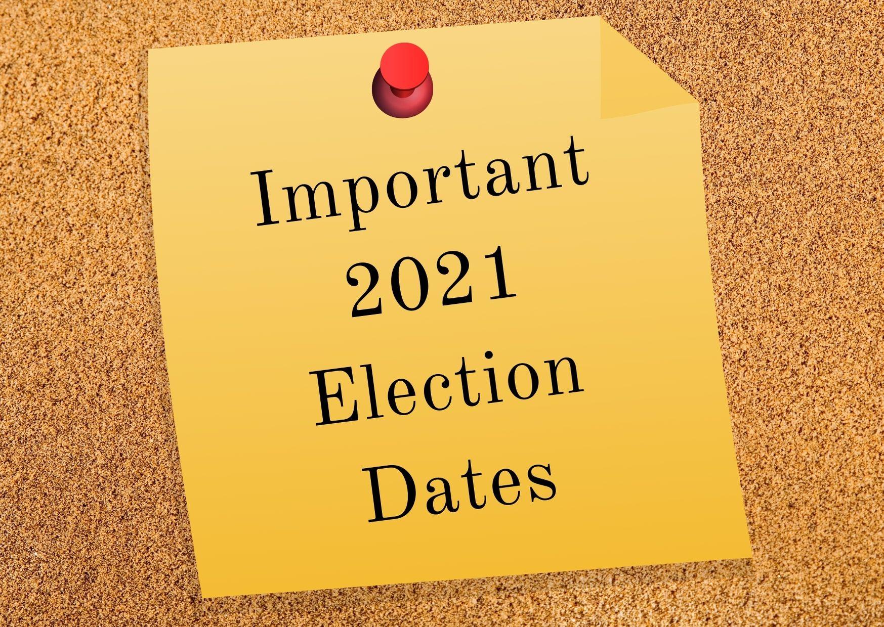 Important 2021 Election Dates Photo