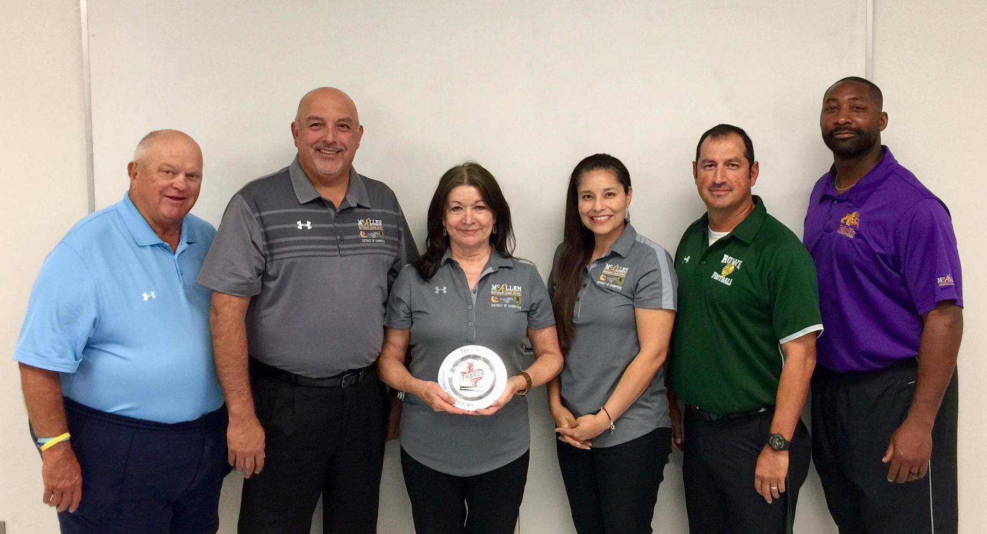 Paula Gonzalez Awarded Region 7 THSADA Athletic Administrator of the Year