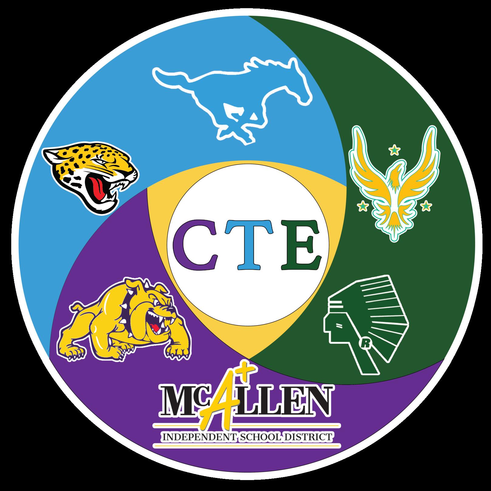 CTE logo with mascots