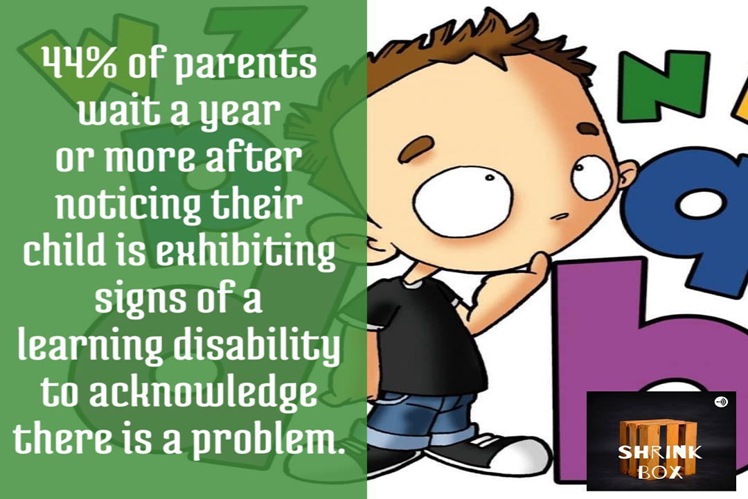 44% of parents wait a year when seeing signs of a learning disability in their child