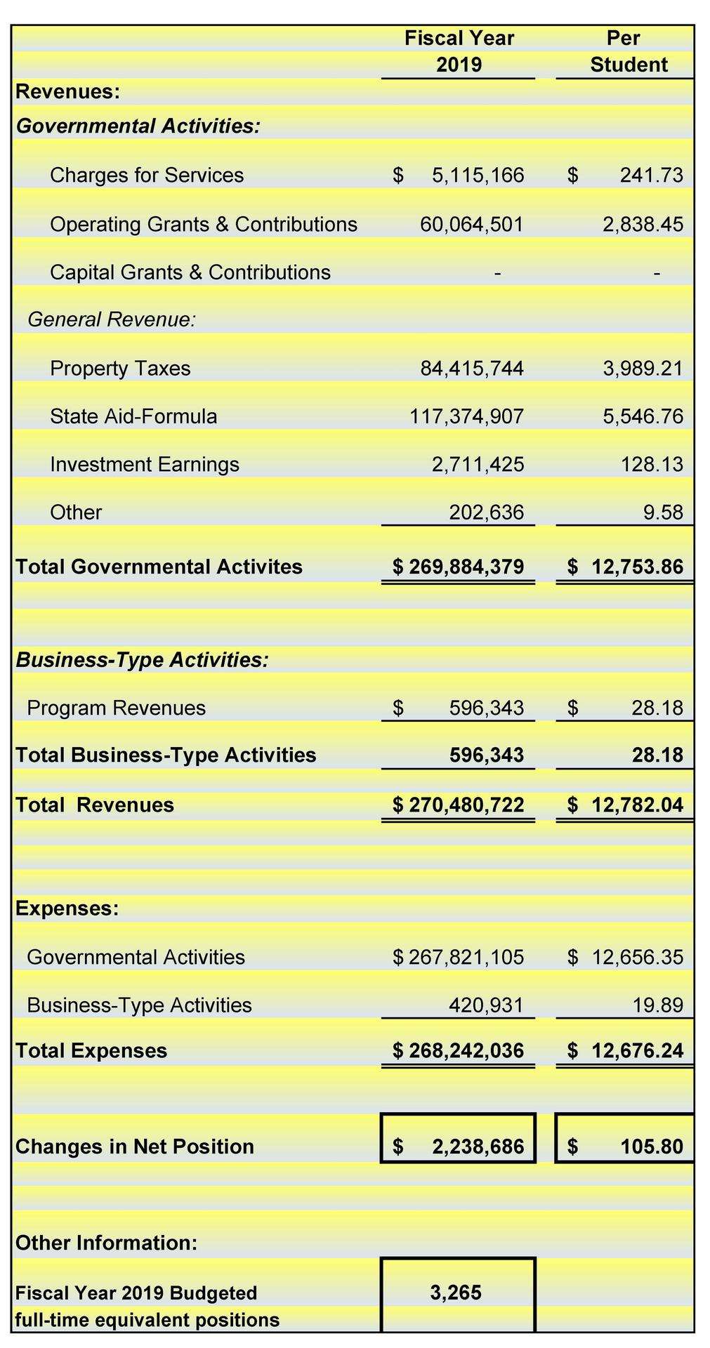 Fiscal Year 2019 Budgeted