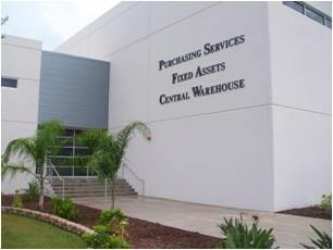 Purchasing Services, Fixed Assets, and Central Warehouse building