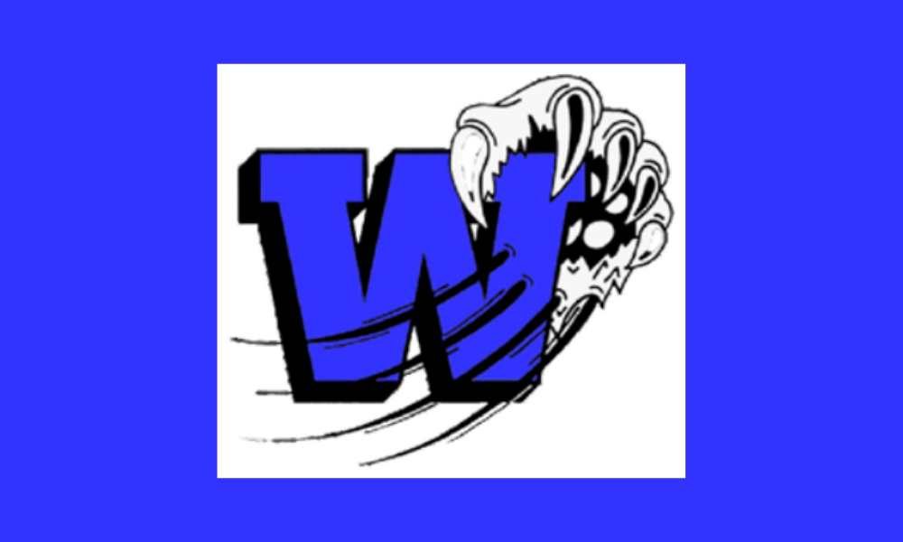Wolf Branch W logo with Wolverine claw in background