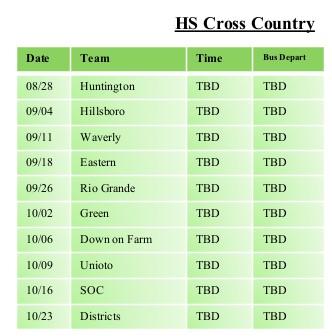 Cross Country 2021-22