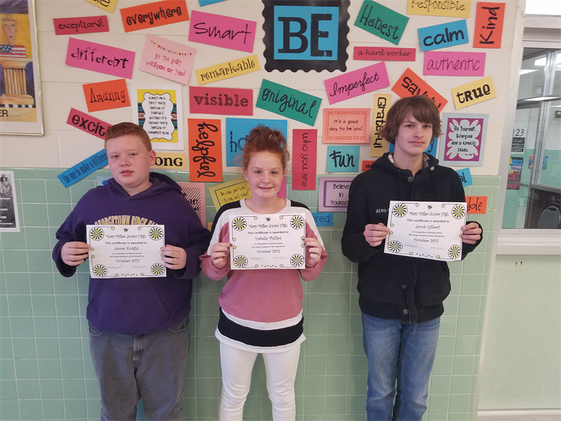 Students of the Month 2017-2018