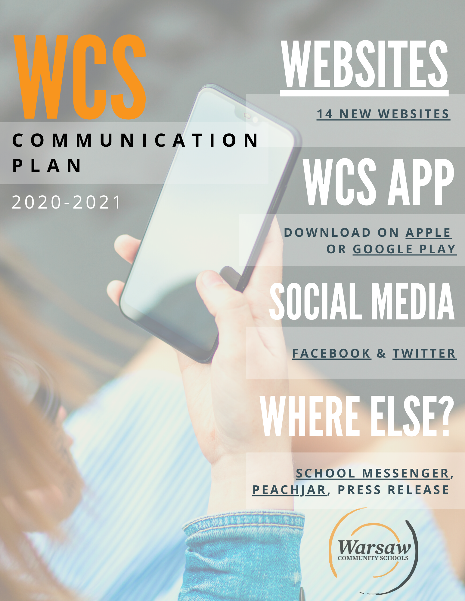 WCS Communication Plan 2020-2021