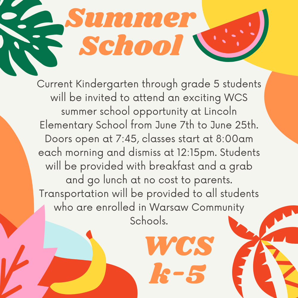 k-5 Summer School Poster
