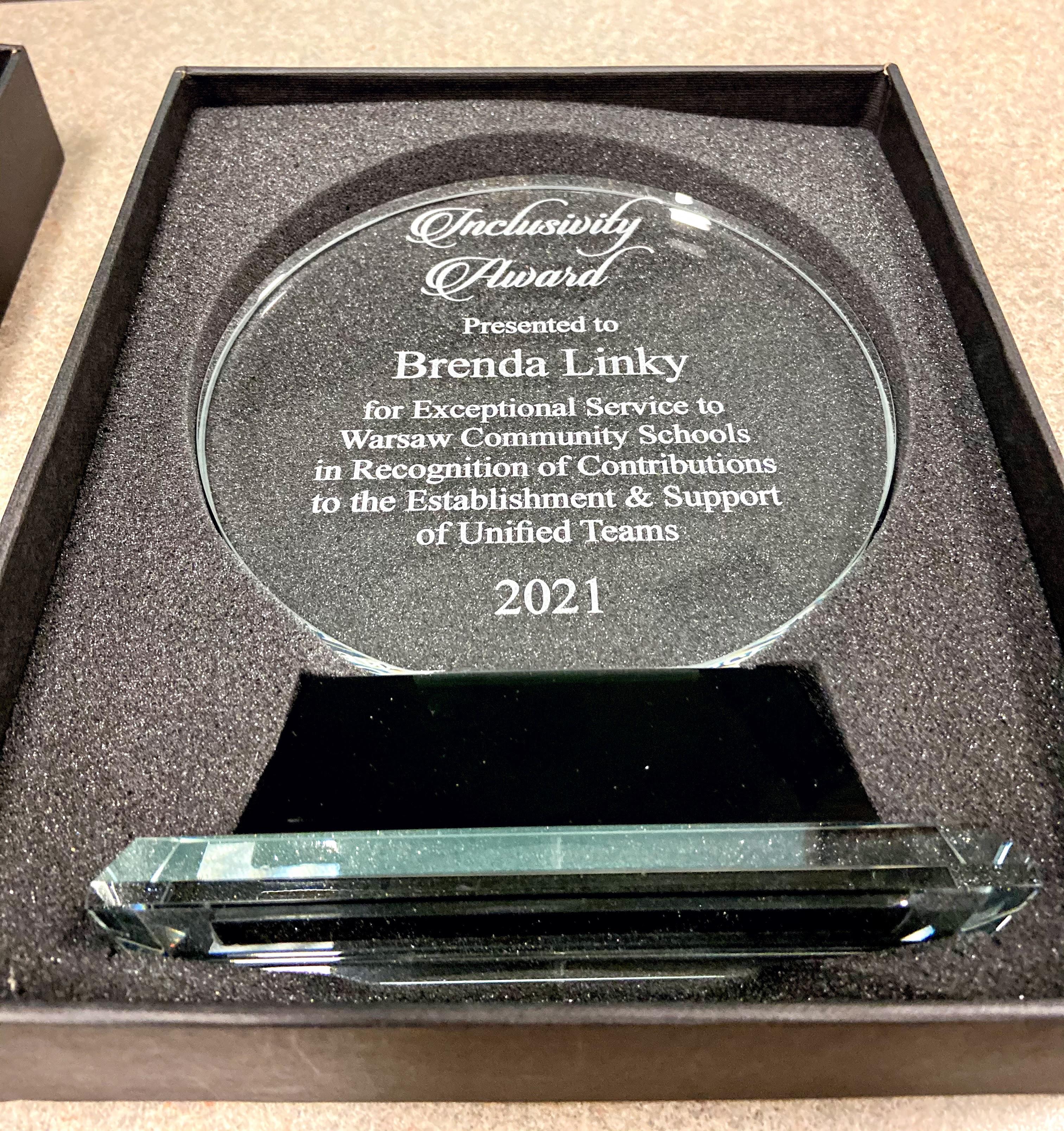 Brenda Linky Inclusivity Award
