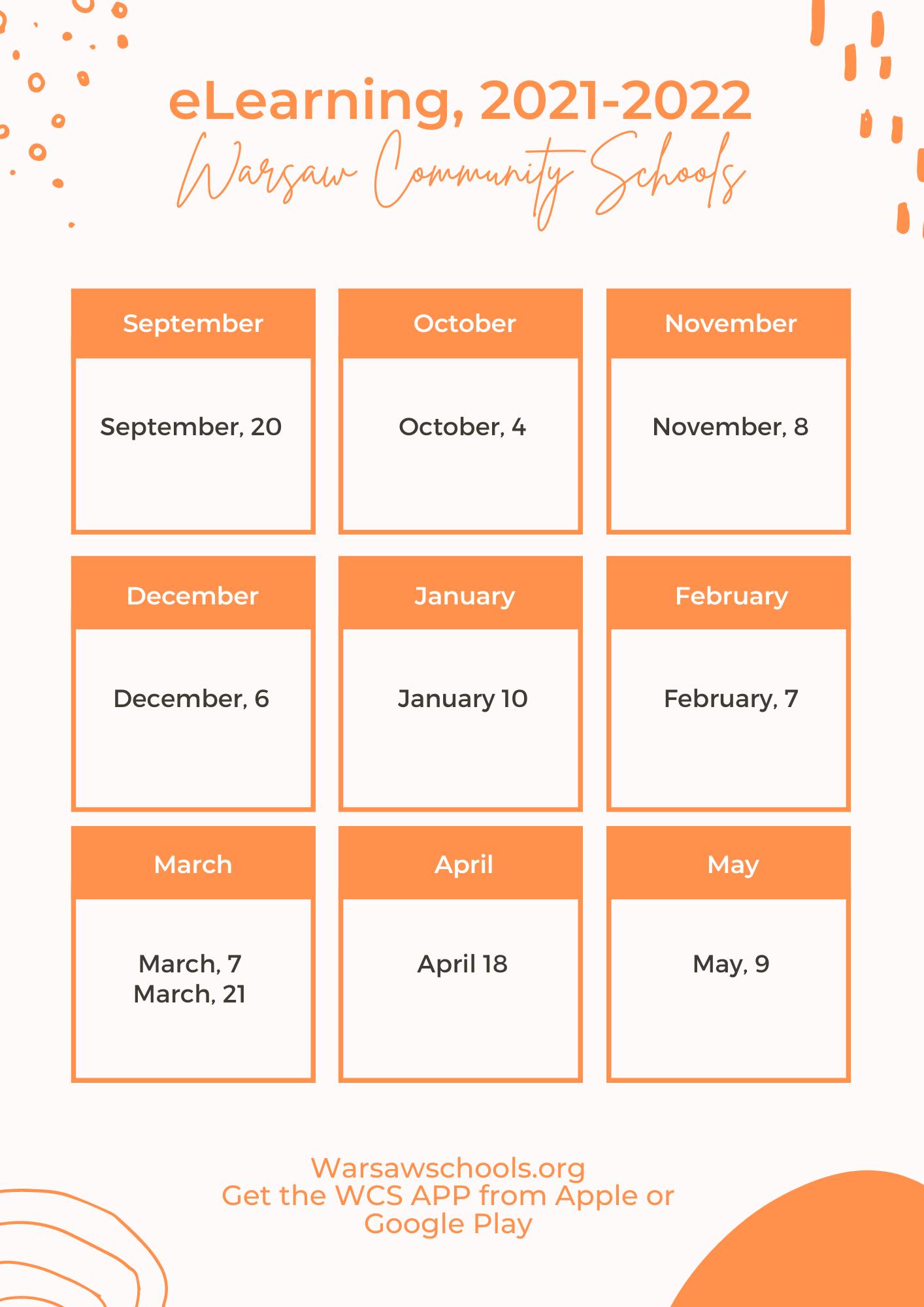 eLearning Days Calendar