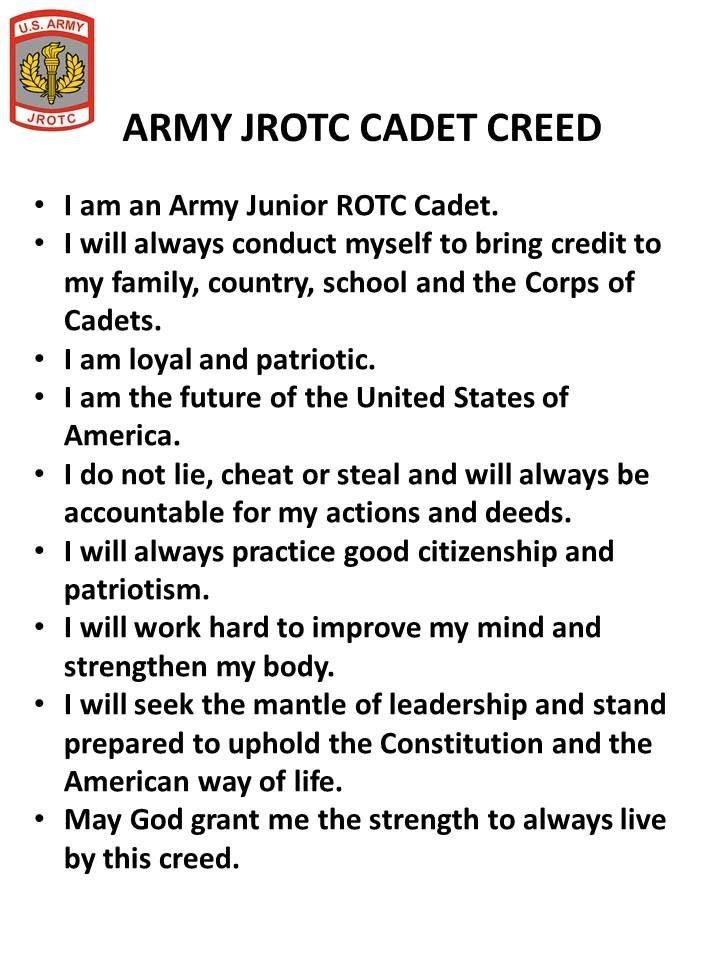 Army JROTC Cadet Creed