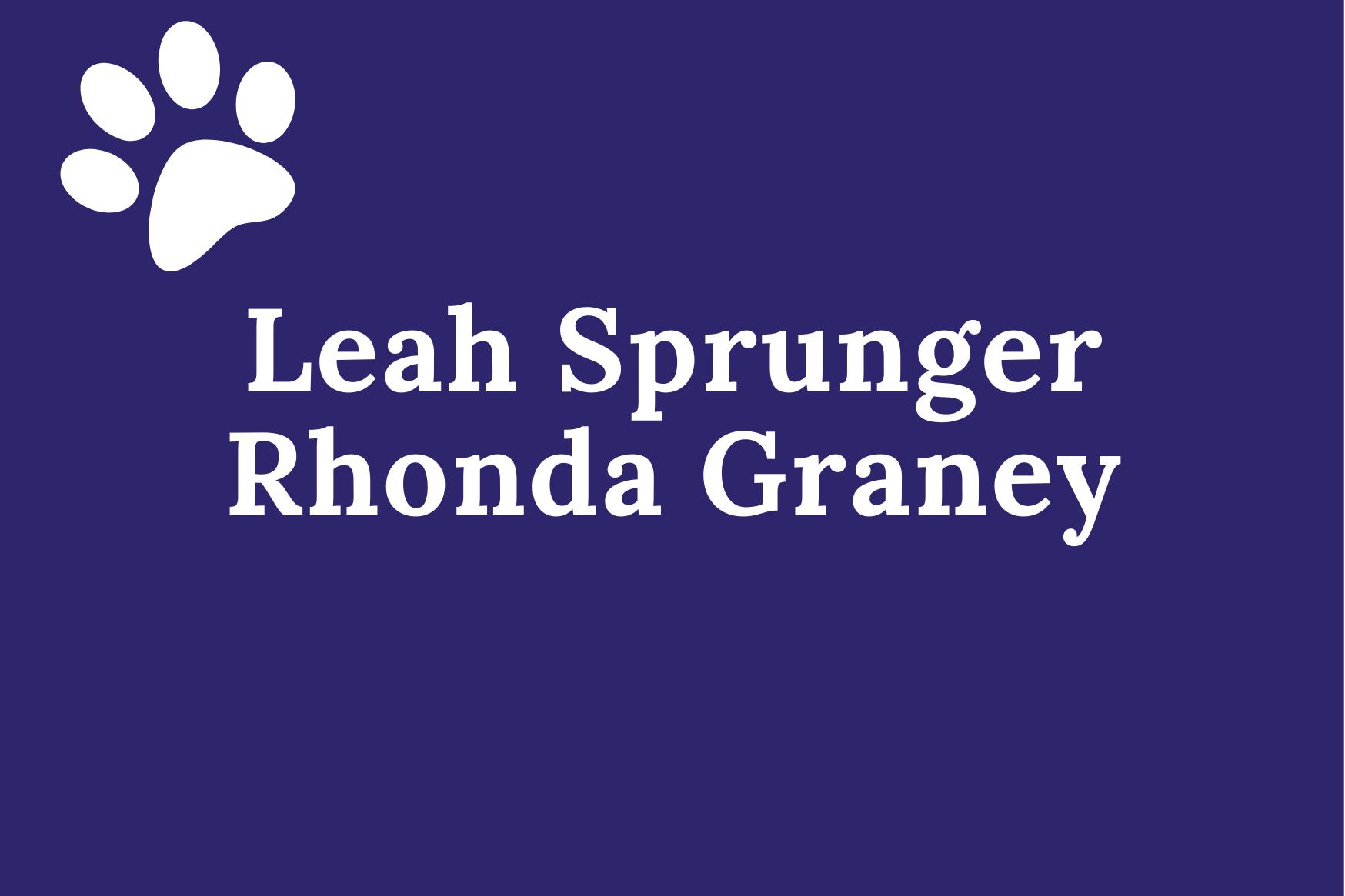 leah sprunger rhonda  graney