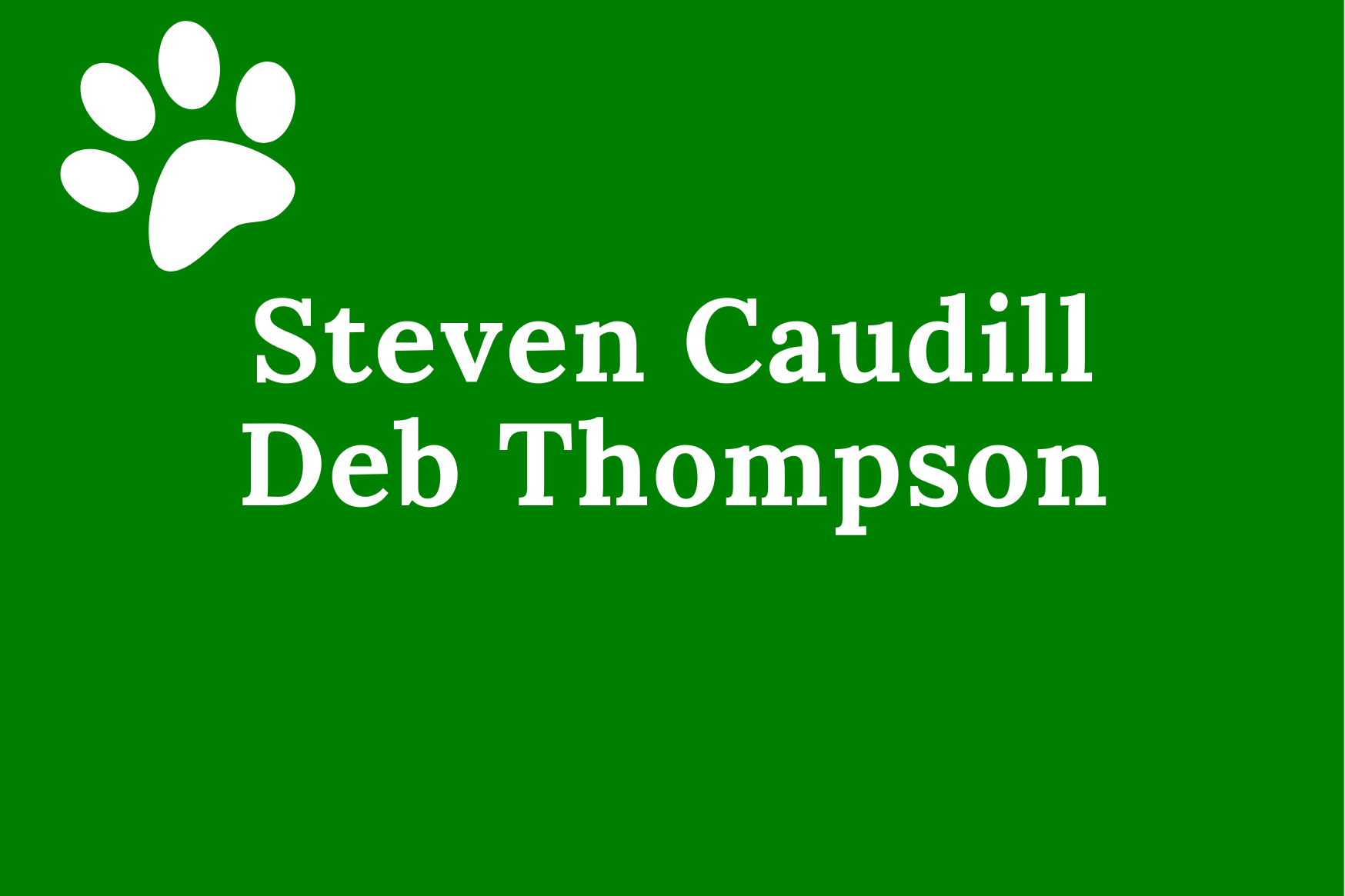 Steven Caudill Deb Thompson
