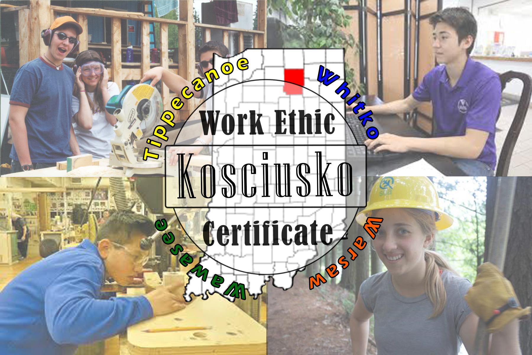 Work Ethic Kosciusko Cetificate