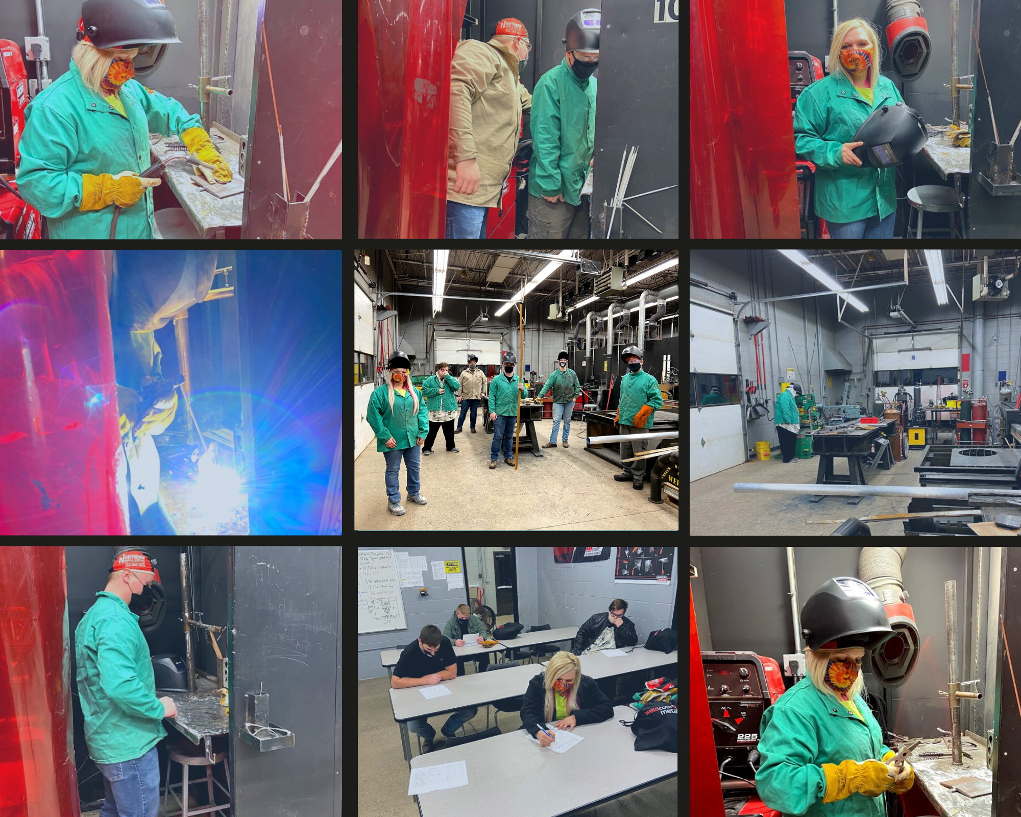 Welding Classes Collage