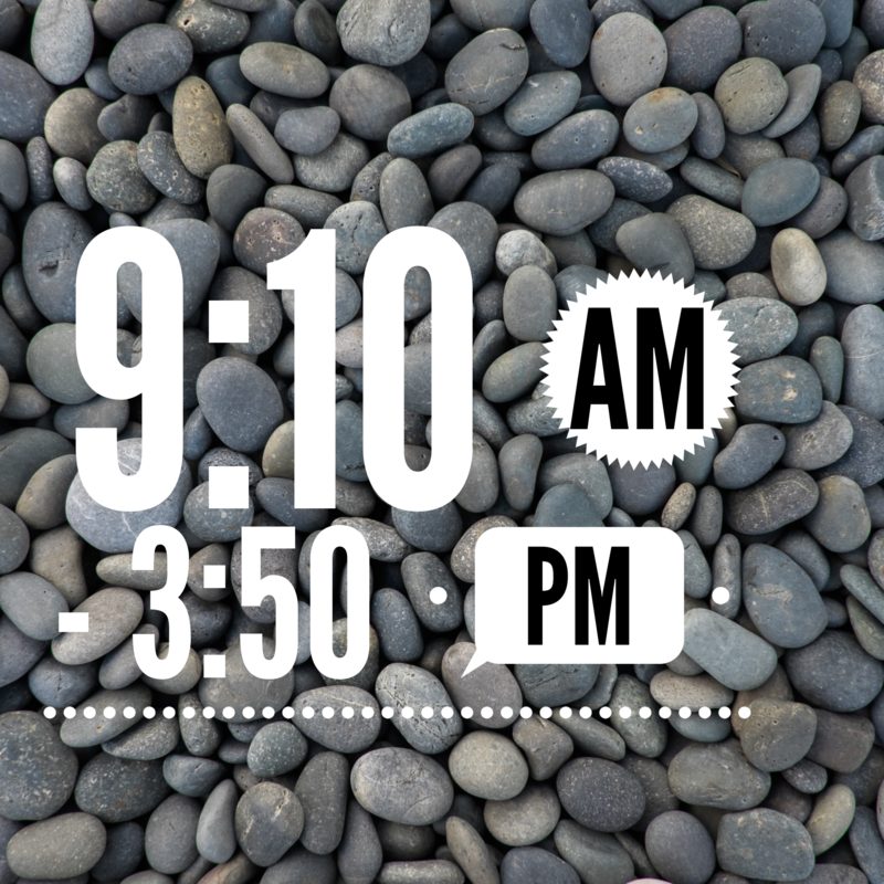 9:10 AM - 3:50 PM