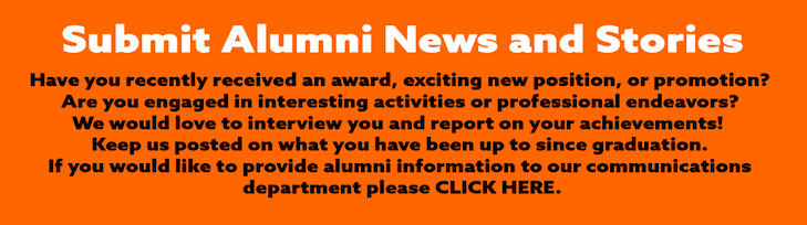 """Click here to """"Submit alumni news and stories"""""""