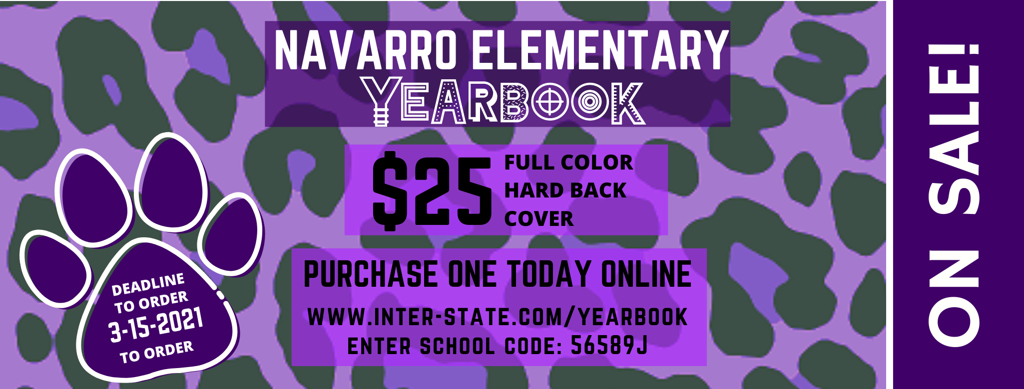 Yearbook Sales $25