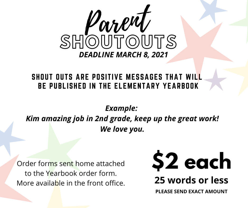 Parent Shout Outs