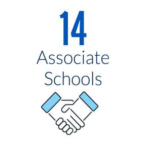 14 associate schools
