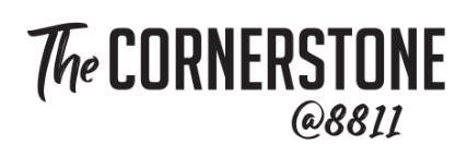 The Cornerstone@8811 logo