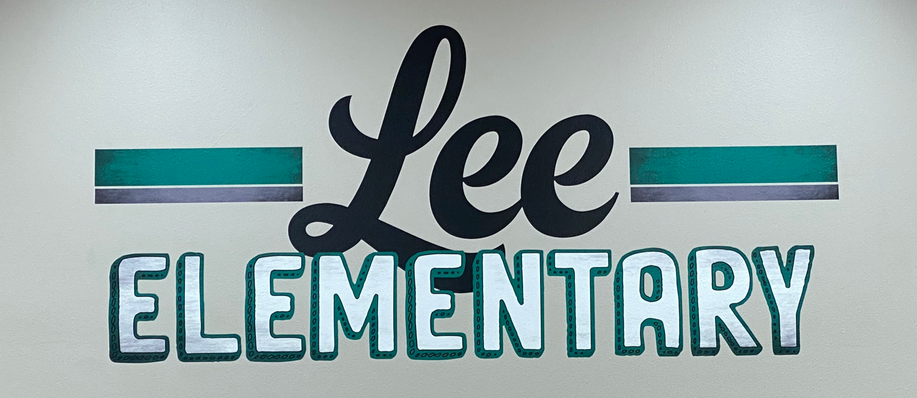 Lee Elementary Logo in Library