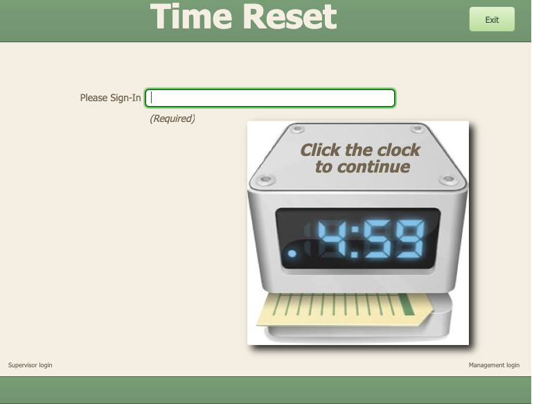 Time Reset