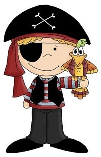 A drawing of a small pirate