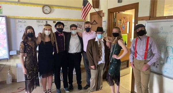 HS Students dressed up