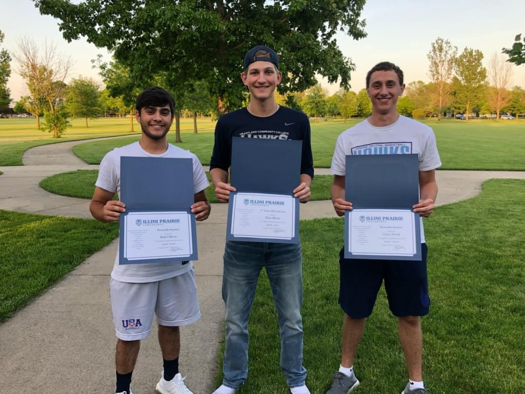 Three Kids holding awards